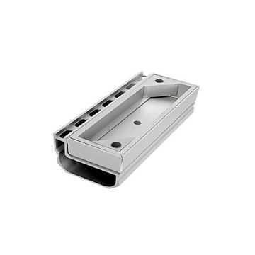 Afløbsrende i aluminium med inspektionsdel.Til max 40 mm belægningshøjde.