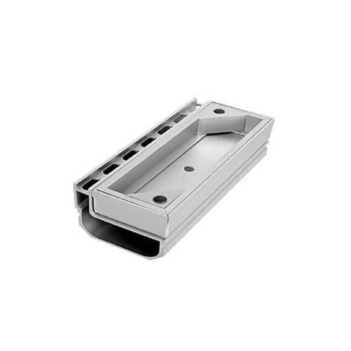Afløbsrende i aluminium med inspektionsdel. Til max 40 mm belægningshøjde.