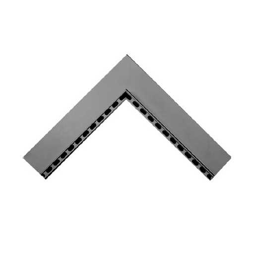 Oldebjerg Alu 40 indv. hjørne rende L=500x500mm