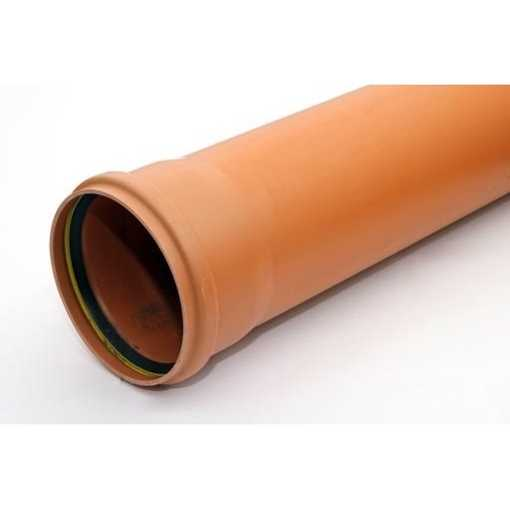 KloakrørPVC 200 x 1000 mm SN4 EN1401-1 PVC kloakrør pvc rør kloak plast kloakrør