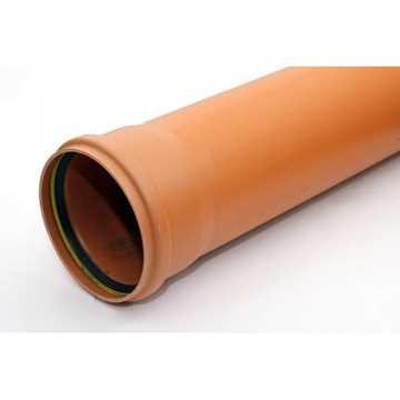 KloakrørPVC 200 x 2000 mm SN8 EN1401-1 PVC kloakrør pvc rør kloak plast kloakrør