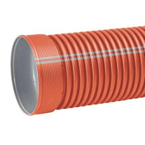 Ultra Double kloakrør i PP 400 x 3000 mm i SN8 med muffe. Ekskl. tætningsring.  EN 13476-3 godkendt.