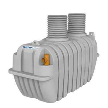 Watercare 3-kammertank til gravitation med DN500 (569/500 mm) opføringsrør. CE-mærket efter EN12566-