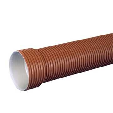 Ultra Rib 2 kloakrør 200 x 3000 mm  PP, SN8 med muffe. Med muffe til gravitation. Tætningsring medfø