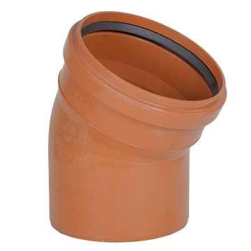 Kloakbøjning PVC 250 mm x 30° PVC kloakbøjning pvc kloakfittings kloakplast kloakvinkel kloak vinkel