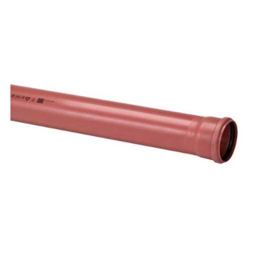 Kloakrør i PVC 200 x 3000mm SN8 EN 1401-1 PVC kloakrør pvc rør kloak plast kloakrør