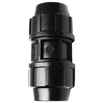 Samlemuffe for PE-rør 63 x 63 mm PN16.<br>Anvendes til at samle PE rør i en trækfast løsning.<br><br