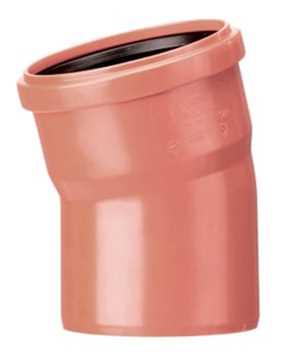 Kloakbøjning PVC 200 mm x 30° pp kolak tee grenrør kloak plast kolakfittings