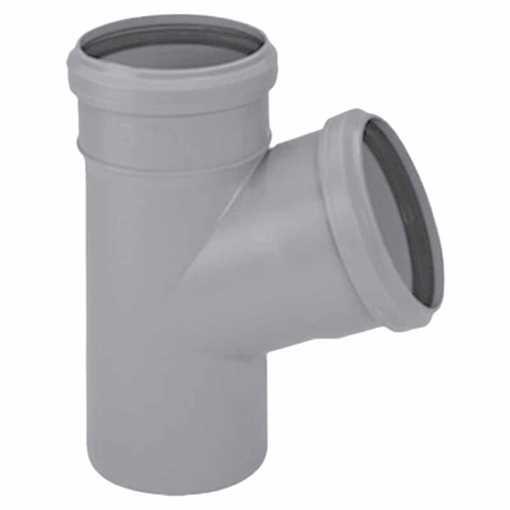 HTP grenrør 75 x 50 mm 67° i grå.<br><br>Anvendes til tilslutning af køkkenvask, håndvask, vaskemask