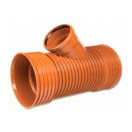 Kaczmarek K2 kloakgrenrør PP 300 x 250 mm 45°med glat PVC spids.