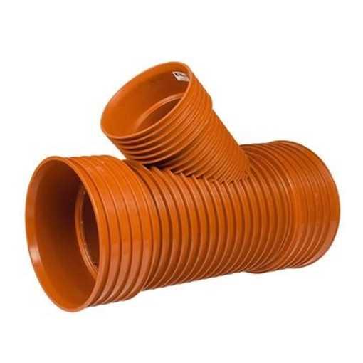Kaczmarek K2 kloakgrenrør PP 300 x 200 mm 45°med glat PVC spids. kloak tee