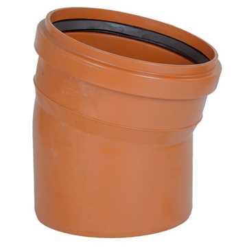 Kloakbøjning PP 110 mm x 15° SN4 kloakbøjning pp kloakfittings kloakplast kloakvinkel kloakplast