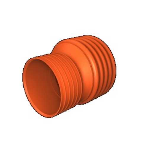 Kaczmarek K2 kloakreduktion PP 250 mm x  200 mm med K2 muffe til K2 spids.