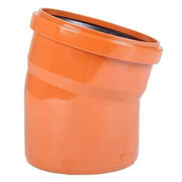 Kloakbøjning PVC 110 mm x 15° kloak vinkel kloak PVC kloakbøjning pvc kloakvinkel kloakplast