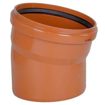 Kloakbøjning PVC 315 mm x 15°  PVC kloakbøjning pvc kloakfittings kloakplast kloakvinkel pvc