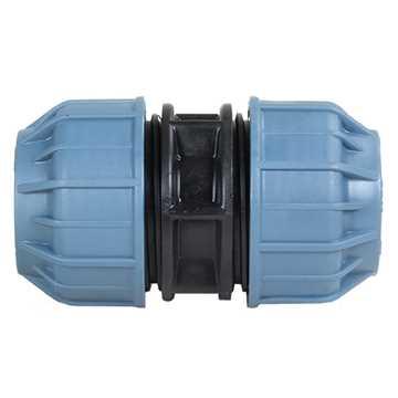 Samlemuffe for PE-rør 25 x 25 mm samlemuffe samler til PE-rør spændfittings Samlemuffe for PE-rør 25