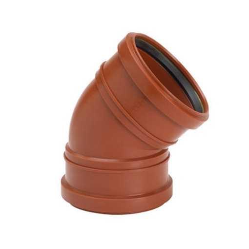 Kloakbøjning i PP 110 mm x 15° kloakbøjning pp kloakfittings kloakplast kloakvinkel PP kolak vinkel