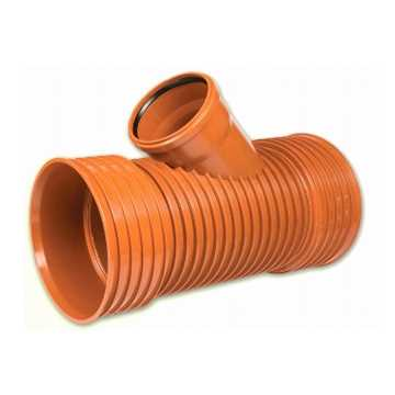 Kaczmarek K2 kloakgrenrør PP 250 x 250 mm 45°med glat PVC spids.