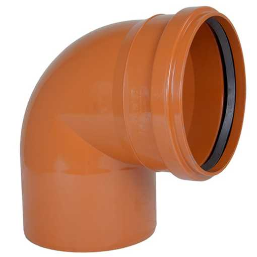Kloakbøjning PP 110 mm x 87° SN4 kloakbøjning pp kloakfittings kloakplast kloakvinkel