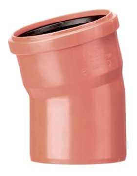 Kloakbøjning i PP glat 250 mm x 15° kloakbøjning pp kloakfittings kloakplast kloakvinkel