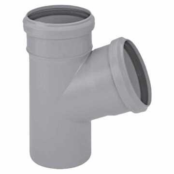 HTP grenrør 110 x 50 mm 45° i grå