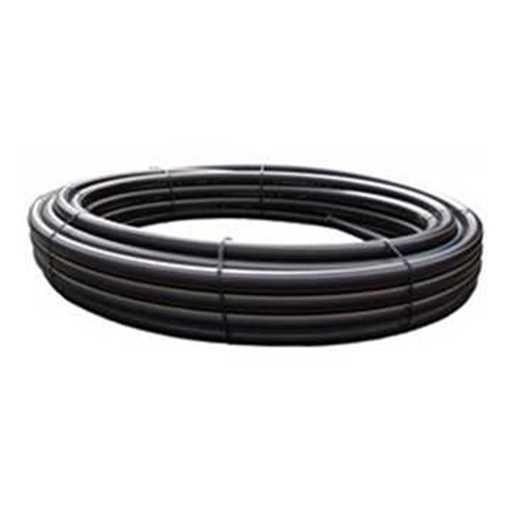 PE-rør 32 x 2,0 mm Trykrør 100m sort/brun PN10 PE 100 SDR17. PEM-røret bruges bl.a. til spildevand.