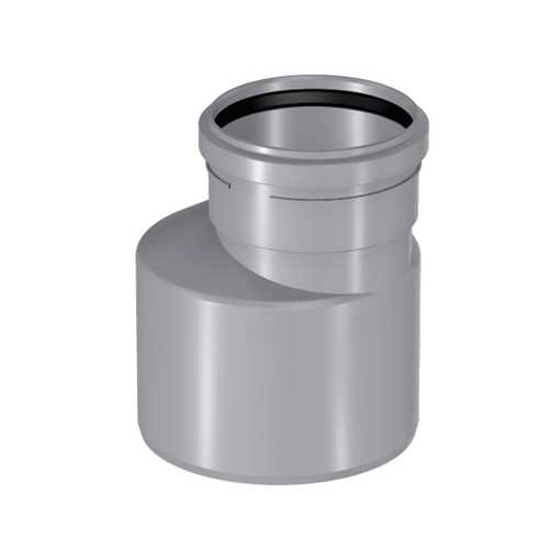Uponor htp reduktion 75 x 32 mm lang model i grå