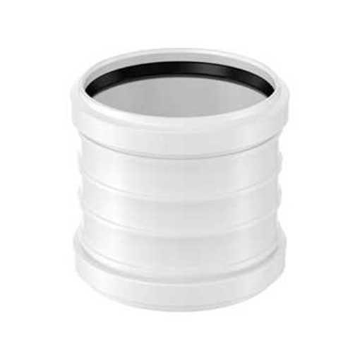 Plastdobbeltmuffe 40 mm.<br><br>Anvendes til tilslutning af køkkenvask, håndvask, vaskemaskine, udsl