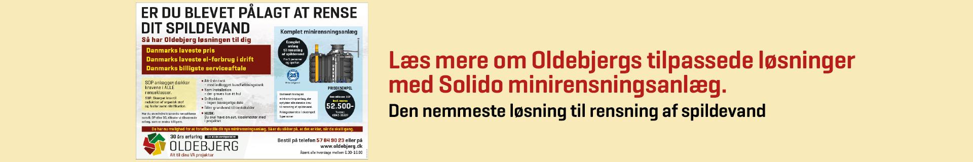 Rens dit spildevand med et minirensningsanlæg fra Oldebjerg