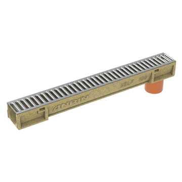 ANRIN Self-100 rende 1m m/udløb og m/rist A15 H=100 mm.